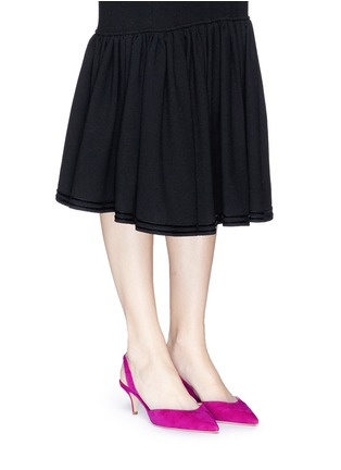 Figure View - Click To Enlarge - Paul Andrew - 'Rhea' suede slingback pumps