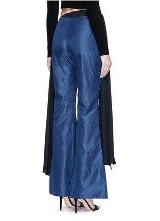 Back View - Click To Enlarge - Rosie Assoulin - Bikini side tie silk taffeta flare pants