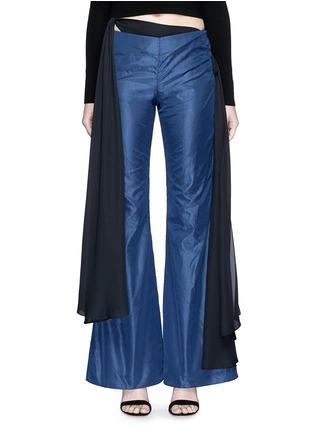 Main View - Click To Enlarge - Rosie Assoulin - Bikini side tie silk taffeta flare pants