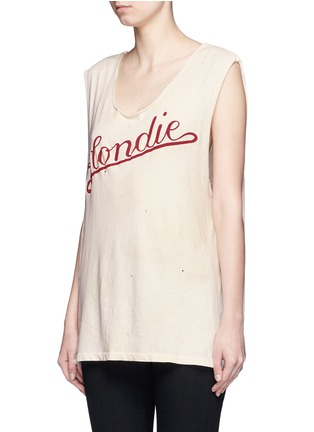 Front View - Click To Enlarge - Madeworn - 'Blondie T' cotton tank top