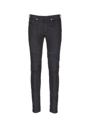 Main View - Click To Enlarge - NEIL BARRETT - Biker raw denim skinny jeans