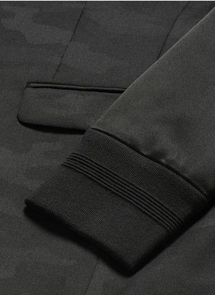 - Neil Barrett - Bomber sleeve camouflage jacquard blazer