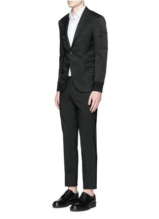 Figure View - Click To Enlarge - Neil Barrett - Bomber sleeve camouflage jacquard blazer