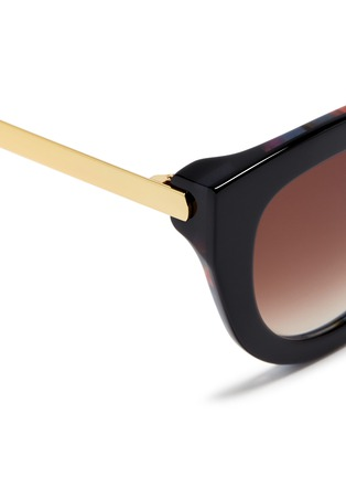Detail View - Click To Enlarge - Thierry Lasry - 'Cupidity' metal temple pearlescent interior acetate cat eye sunglasses