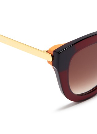 Detail View - Click To Enlarge - Thierry Lasry - 'Cupidity' metal temple contrast corner acetate cat eye sunglasses