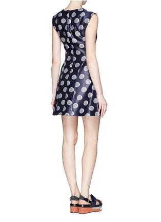 Back View - Click To Enlarge - KENZO - Polka dot chintz jacquard flare dress