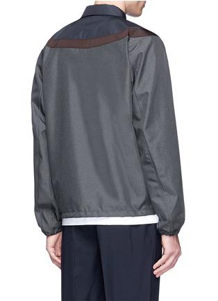 Back View - Click To Enlarge - KOLOR - Contrast yoke floral embroidered coach jacket