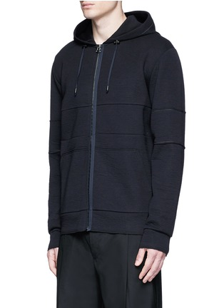 Front View - Click To Enlarge - Lanvin - Technical jersey zip hoodie