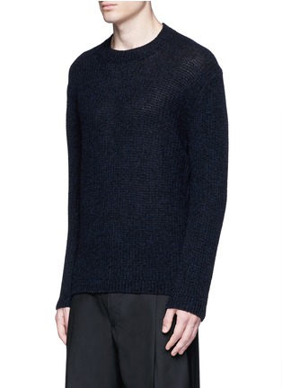 Front View - Click To Enlarge - LANVIN - Open mouliné stitch cashmere sweater