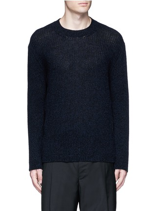 Main View - Click To Enlarge - LANVIN - Open mouliné stitch cashmere sweater
