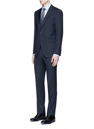 Figure View - Click To Enlarge - Lanvin - 'Attitude' woven stripe wool suit