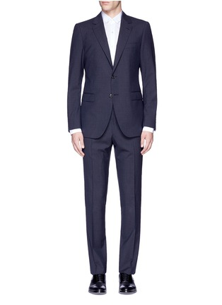 Main View - Click To Enlarge - Lanvin - 'Attitude' woven stripe wool suit