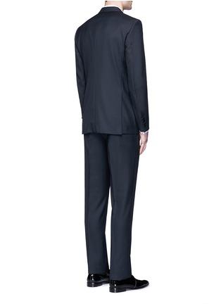 Back View - Click To Enlarge - Lanvin - 'Attitude' satin trim wool tuxedo suit