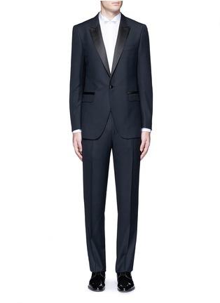 Main View - Click To Enlarge - Lanvin - 'Attitude' satin trim wool tuxedo suit