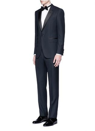 Figure View - Click To Enlarge - Lanvin - 'Attitude' satin trim wool tuxedo suit