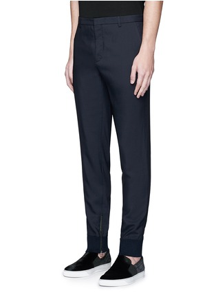 Front View - Click To Enlarge - Lanvin - Zip rib cuff jogging pants