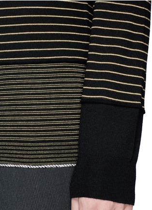 Detail View - Click To Enlarge - Lanvin - Stripe Merino wool sweater