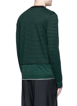 Back View - Click To Enlarge - Lanvin - Stripe Merino wool sweater