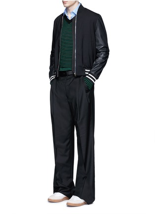 Figure View - Click To Enlarge - Lanvin - Stripe Merino wool sweater