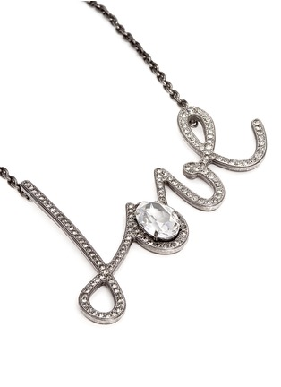 Detail View - Click To Enlarge - Lanvin - 'Love' glass crystal pendant necklace