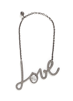 Main View - Click To Enlarge - Lanvin - 'Love' glass crystal pendant necklace