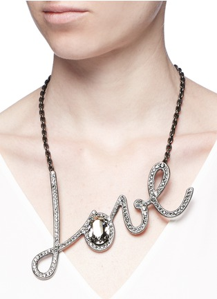 Figure View - Click To Enlarge - Lanvin - 'Love' glass crystal pendant necklace