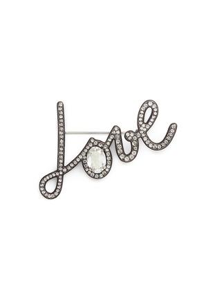 Main View - Click To Enlarge - Lanvin - 'Love' crystal pin brooch