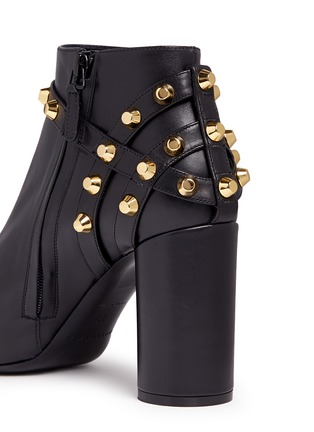 Detail View - Click To Enlarge - Balenciaga - 'Classic' stud harness leather ankle boots