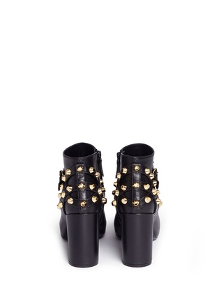 Back View - Click To Enlarge - Balenciaga - 'Classic' stud harness leather ankle boots