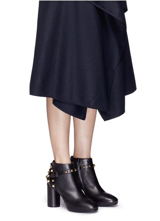 Figure View - Click To Enlarge - Balenciaga - 'Classic' stud harness leather ankle boots