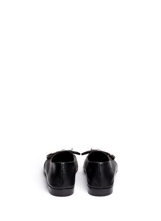 Back View - Click To Enlarge - Balenciaga - Metal bow nappa leather ballerina flats