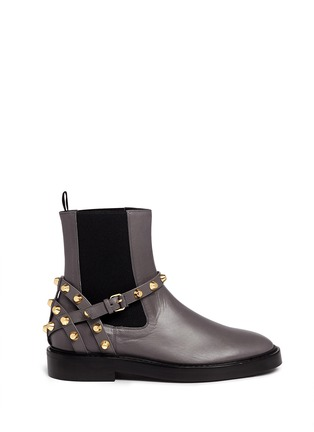Main View - Click To Enlarge - Balenciaga - 'Classic' stud harness leather Chelsea boots