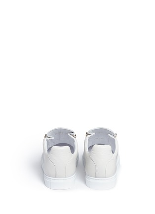 Back View - Click To Enlarge - Balenciaga - 'Arena' creased lambskin leather sneakers
