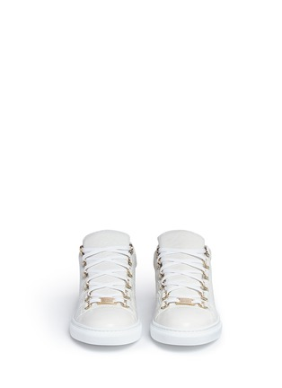 Front View - Click To Enlarge - Balenciaga - 'Arena' creased lambskin leather sneakers