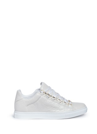 Main View - Click To Enlarge - Balenciaga - 'Arena' creased lambskin leather sneakers