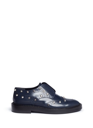 Main View - Click To Enlarge - Balenciaga - Stud leather laceless brogues
