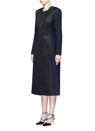 Figure View - Click To Enlarge - Roksanda - 'Evanton' curly fur panel wool blend frock coat