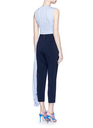 Back View - Click To Enlarge - Roksanda - 'Thurloe' cutout twist front colourblock jumpsuit
