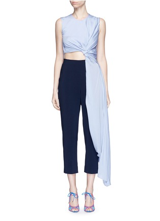 Main View - Click To Enlarge - Roksanda - 'Thurloe' cutout twist front colourblock jumpsuit