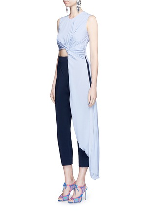 Figure View - Click To Enlarge - Roksanda - 'Thurloe' cutout twist front colourblock jumpsuit