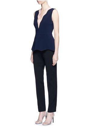 Figure View - Click To Enlarge - Roksanda - 'Carla' scalloped V-neck sleeveless peplum top