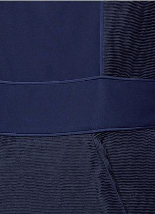 Detail View - Click To Enlarge - Roksanda - 'Eryn' inset crepe flared plissé dress