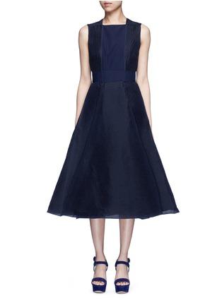Main View - Click To Enlarge - Roksanda - 'Eryn' inset crepe flared plissé dress