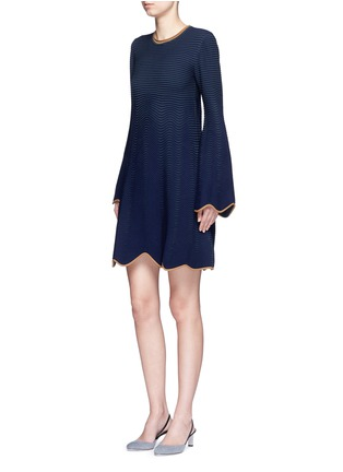 Figure View - Click To Enlarge - Roksanda - 'Gail' wavy piped knit dress