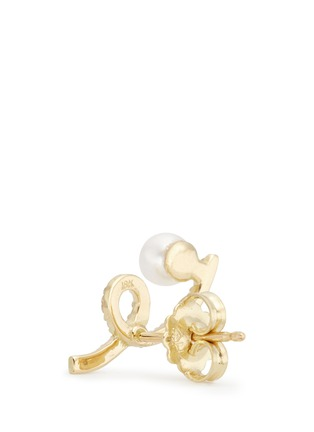 Detail View - Click To Enlarge - PHYNE BY PAIGE NOVICK - 'Unstable' diamond pavé pearl 18k gold earrings