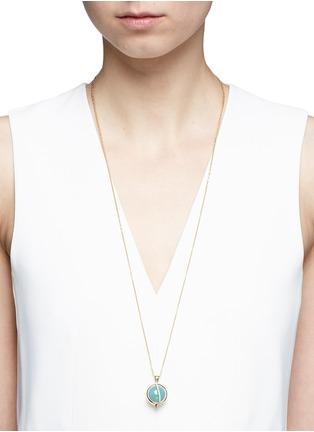 Detail View - Click To Enlarge - PHYNE BY PAIGE NOVICK - 'Building Blocks' diamond pavé 18k gold opal pendant necklace