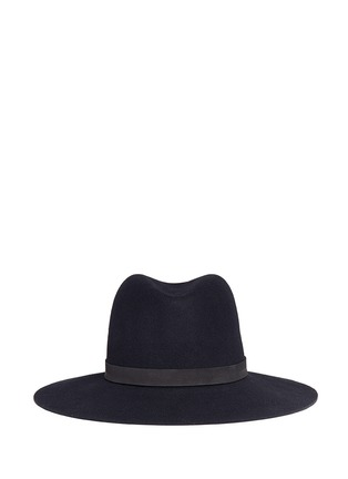 Main View - Click To Enlarge - Janessa Leone - 'Ila' leather band wool felt hat