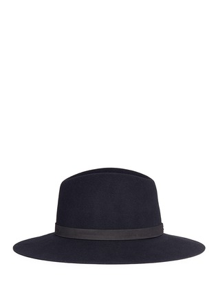 Figure View - Click To Enlarge - Janessa Leone - 'Ila' leather band wool felt hat