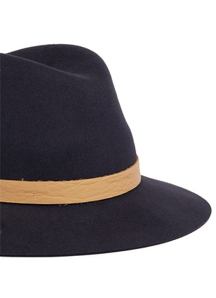 Detail View - Click To Enlarge - Janessa Leone - 'Lucy' leather band wool felt fedora hat