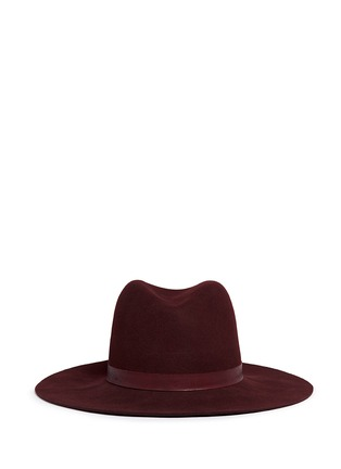 Main View - Click To Enlarge - Janessa Leone - 'Lea' leather band wool felt hat
